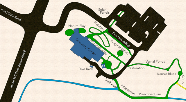 Map of the Discovery Center grounds and exhibits