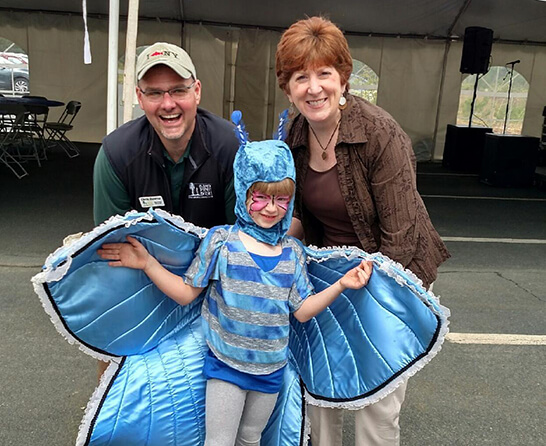 Mayor Sheehan at the Albany Pine Bush Lupine Fest.
